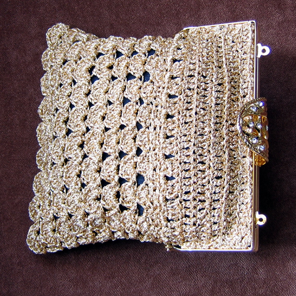 Triangle Evening Purse - AllFreeCrochet.com - Free Crochet