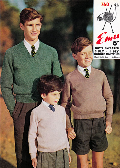 8cef5020e81d8 Classic school pullovers (in choice of yarn weights)