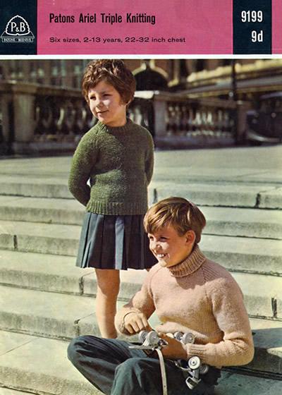 Vintage Patterns Childrens Plain Sweaters Iii