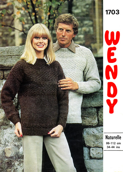 f7dbef9ef5a8 Chunky guernsey sweaters for him and her
