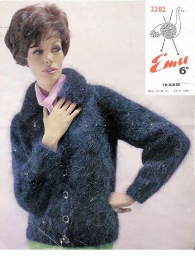 Vintage Patterns Sixties Sophisticated Mohair Cardigan