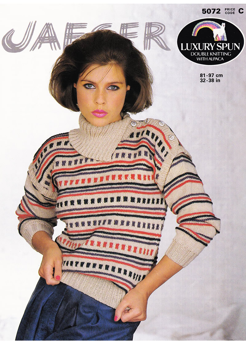 "V.ROUND NECK CABLE SWEATERS,SIZES 20 40/"" STYLECRAFT LIFE ARAN KNITTING PATTERN"