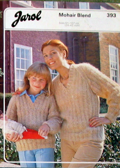 6ab36c11708bf Mohair Mother and daughter sweaters