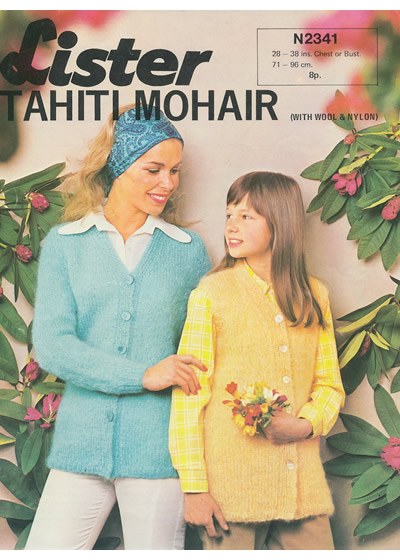 6364d37c6b1cc Mother and daughter mohair cardigan or vest. Pattern ID  Lister ...